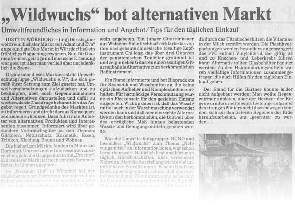 1988 09 11 REV Wildwuchs bot alternativen Markt preview